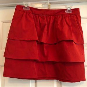 Red orange skirt